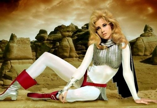 any major character from robert vadims 1968 classic barbarella you could be pygar the blind angel who has lost his will to fly a costume that only