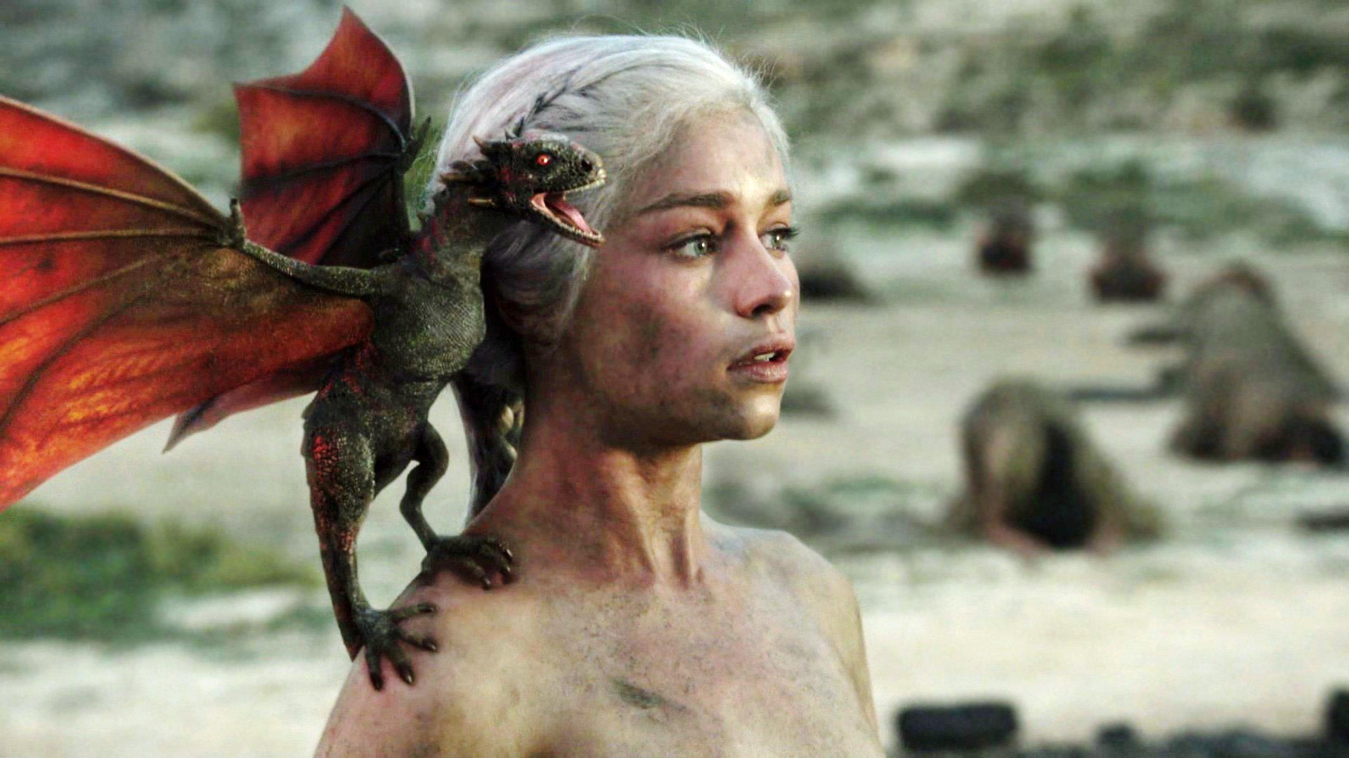 Daenerys with dragon