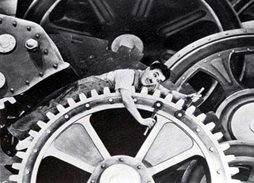 Modern Times: Charlie Chaplin's Tramp in the Gears