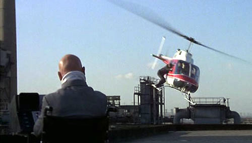 Ernst Stavro Blofeld in For Your Eyes Only helicopter scene