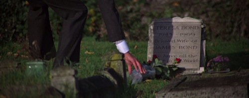 James Bond at Tracy's grave in For Your Eyes Only