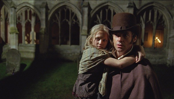 Isabelle Allen and Hugh Jackman in Les Miserables