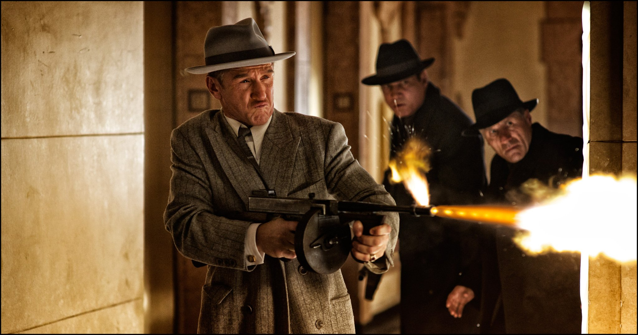 Sean Penn and Holt McCallany in GANGSTER SQUAD