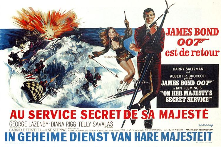 On-Her-Majestys-Secret-Service belgium poster james bond 007 art