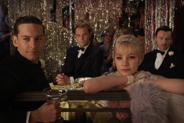 Tobey Maguire, Leonardo DiCaprio, Carey Mulligan, and Joel Edgerton in The Great Gatsby