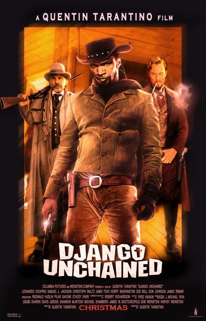 django-unchained-fan-poster-black-brown