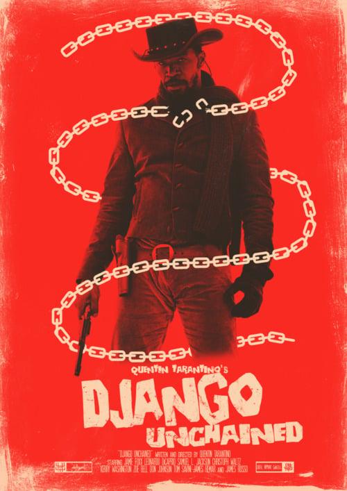 django-unchained-fan-poster-red