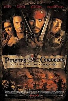 Curse of the black pearl poster