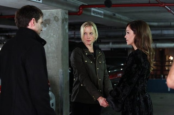 David Rees Snell as Barry Hopper, Jessy Schram as Christine Kendal, and Autmumn Reeser as Kylie Sinclair