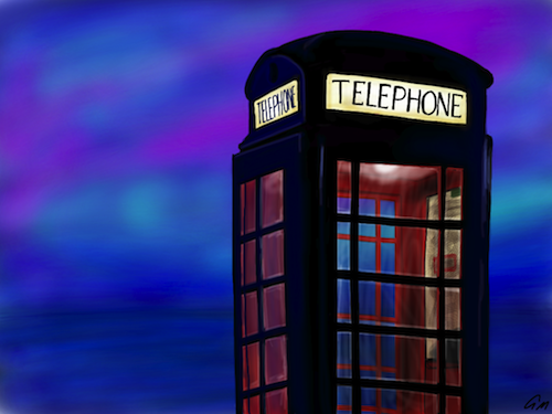 Local Hero Phone Booth by Graham Moynes