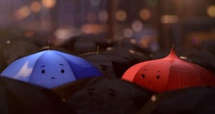 The Blue Umbrella featuring Blue and Red