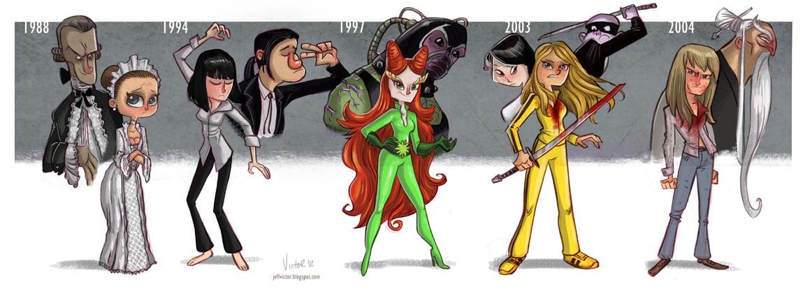 Uma Thurman Evolution