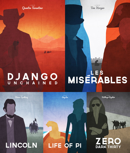 Oscar movie Posters 2013