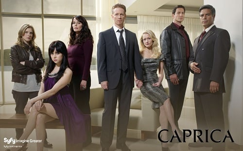 The cast of Syfy's Caprica