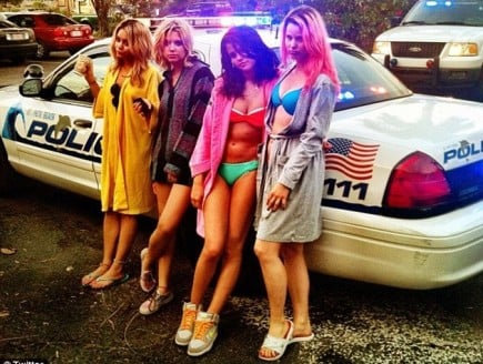 Vanessa-Hudgens-Spring-Breakers-Cop-Car-435x328
