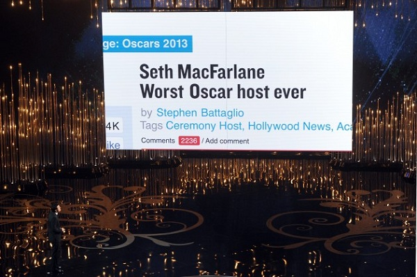 Seth MacFarlane fairly accurately predicts today's headlines