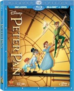 peter pan blu-ray poster