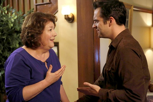 Margo Martindale and Jack Johnson in New Girl, Chicago