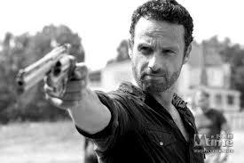 Rick Walking Dead B&W