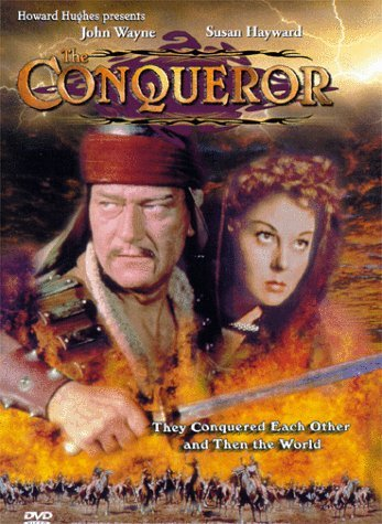 'The Conqueror' is a romanticized Shakespearean effort presented by John Wayne