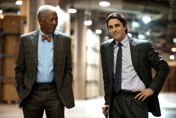 The Dark Knight Rises (Morgan Freeman & Christian Bale)