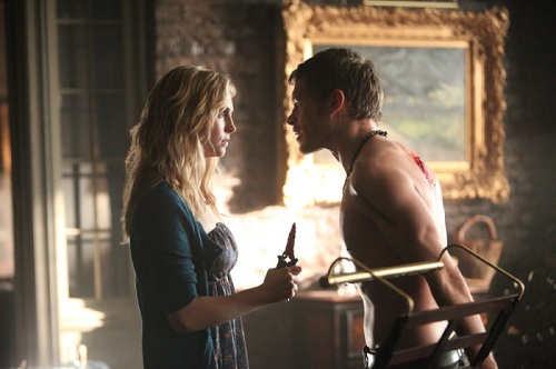 Candice Accola and Joseph Morgan in The Vampire Diaries, American Gothic