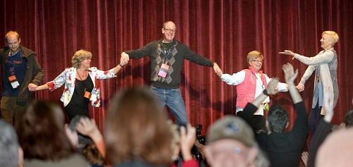 Tilda Swinton leads the dancing at Ebertfest 2013