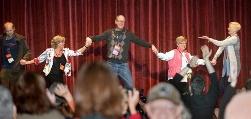 Tilda Swinton leads the dancing at Ebertfest 2013