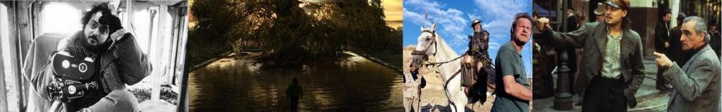 Article Banner - Stanley Kubrick, Hugh Jackman, Jean Rocheforte, Terry Gilliam, Leonardo Di Caprio & Martin Scorsese