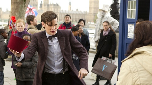 Matt Smith as the Doctor in the midseason premiere of Doctor Who, The Bells of Saint John