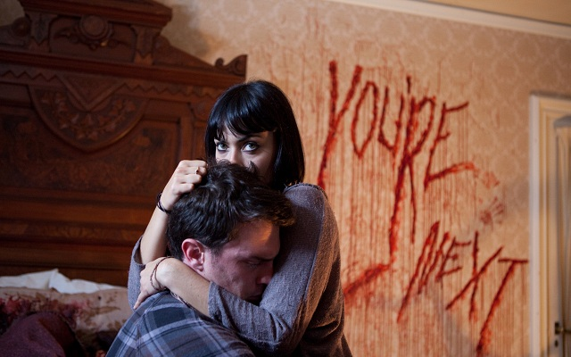 Nicholas Tucci and Wendy Glenn in You're Next