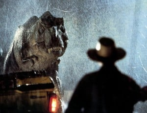 JURASSIC PARK - 1993 UIP film with Sam Neill