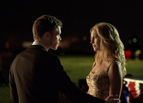 "Joseph Morgan and Candice Accola, The Vampire Diaries, ""Graduation"""