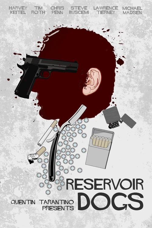 u0026#39;Reservoir Dogsu0026#39; Poster Art by Edgar Ascensu00e3o - PopOptiq