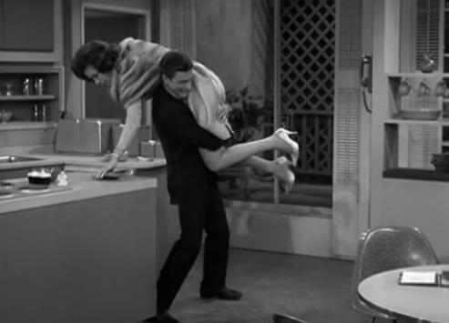 Dick Van Dyke and Mary Tyler Moore in The Dick Van Dyke Show pilot, The Sick Boy and the Sitter