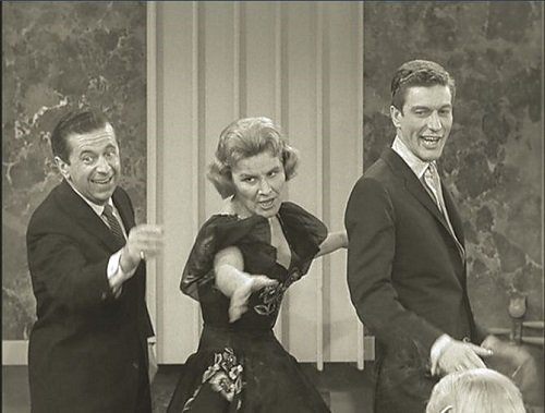Morey Amsterdam, Rose Marie, and Dick Van Dyke in the Dick Van Dyke Show pilot, The Sick Boy and the Sitter