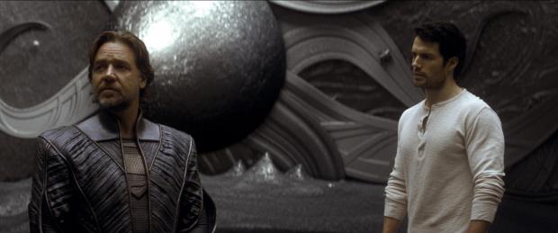 A projection of Jor-El aboard a Kryptonian ship
