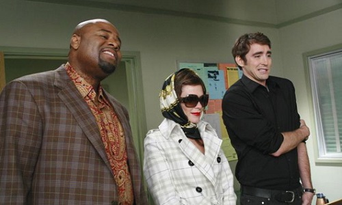 Chi McBride, Anna Friel, and Lee Pace in the Pushing Daisies pilot, Pie-lette
