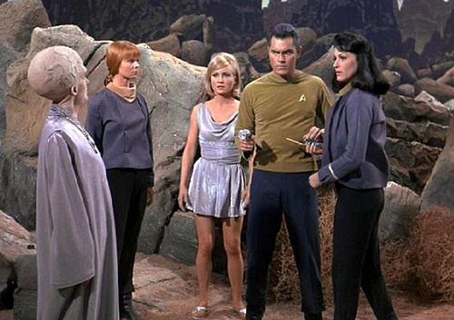 Screenshot from the original Star Trek pilot, The Cage