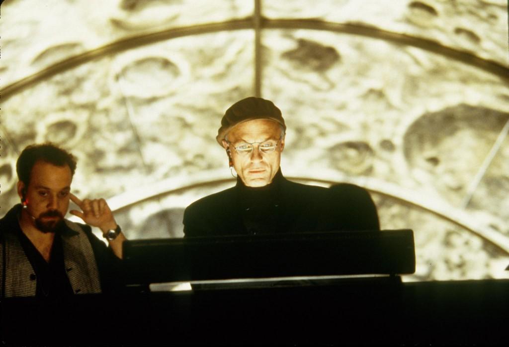 Paul Giamatti & Ed Harris in The Truman Show (1998)