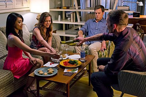 Aimee Garcia, Bethany Joy Lenz, Michael C. Hall & Desmond Harrington in Dexter Ep 8.05 'This Little Piggy'