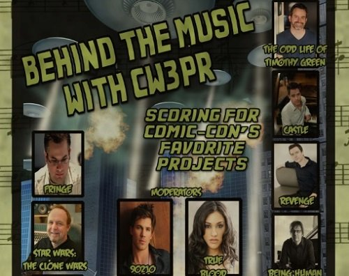 Promo poster for CW3PR panel at SDCC 2013