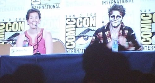 Jason Ritter in ghost makeup for the Ghost Ghirls panel