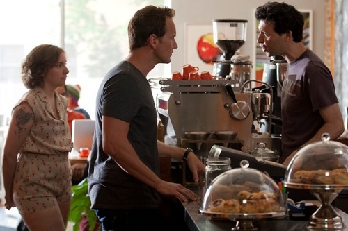 Lena Dunham, Patrick Wilson, and Alex Karpovsky in Girls, One Man's Trash