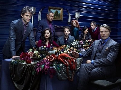 Cast photo for season 1 of Hannibal