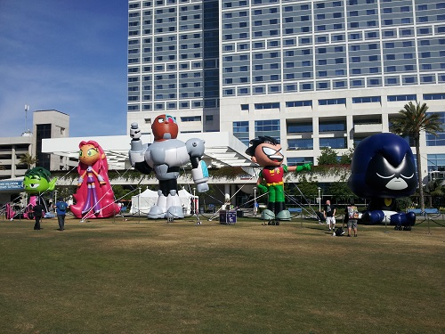 Inflatable Teen Titans at SDCC 2013