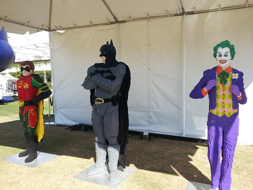 Robin, Batman, and the Joker in Lego, SDCC 2013