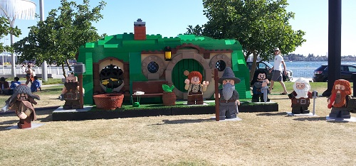 Bag End and The Hobbit Lego display, SDCC 2013