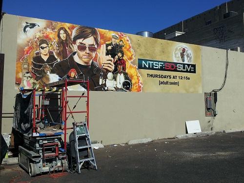 NTSF:SD:SUV:: mural ad, SDCC 2013