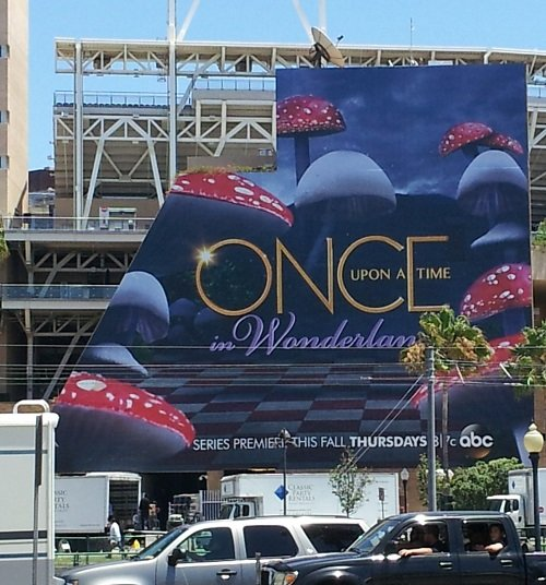 Once Upon a Time in Wonderland ad, SDCC 2013